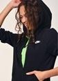 Nike Kapüşonlu Fermuarlı Sweatshirt Siyah